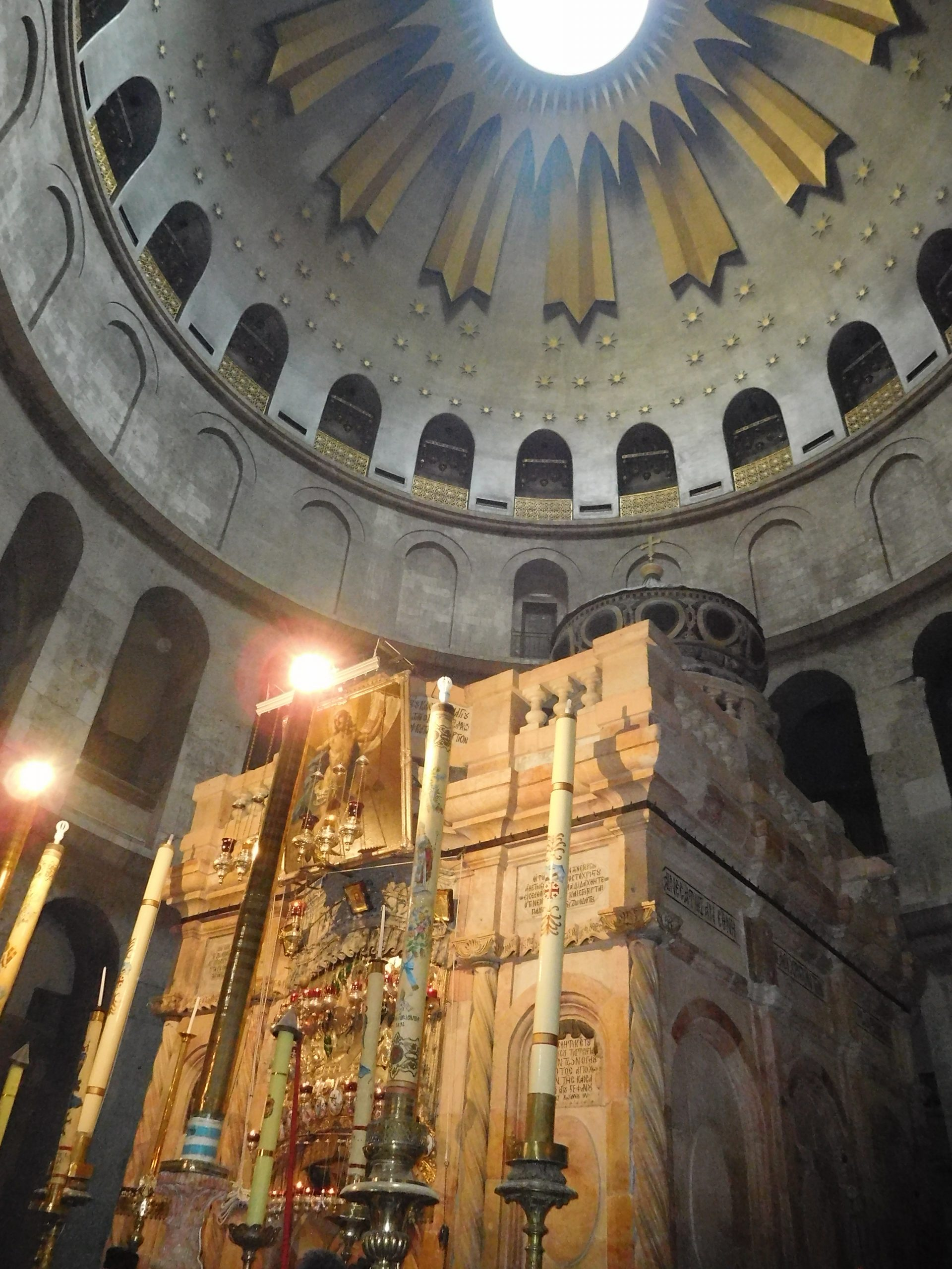 The Aedicule (the tomb of Christ) at the Church of teh Holy Sepulchre, Jerusalem