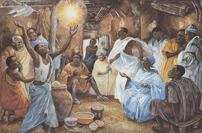 An Image of the Day of Pentecost from the Jesus MAFA project.